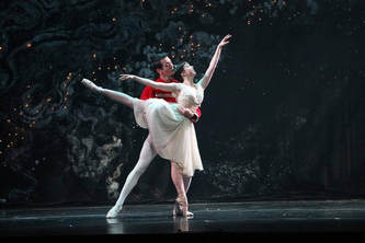The Nutcracker Prince and Clara dance the Lexington Ballet's Nutcracker performance