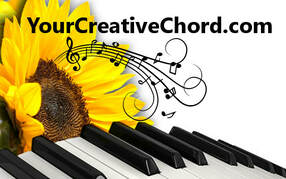 YourCreativeChord.com Logo by Linda Baldinger, Strategies for piano, creativity, caregiver and spiritual wellness. The Storm Is Worth It is about a caregiver's view of her aging parent's journey.