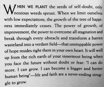 Quote about personal growth from SGI President Daisaku Ikeda